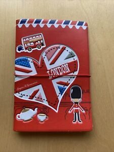 I Love London Holiday Cute Passport Cover Travel ID Holder Card Case Red Bus