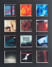 "Nine Inch Nails Nin Discography 14"" by 11"" LP Covers Pic Mounted Ready to Frame"