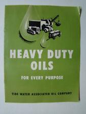 Tydol Heavy Duty Motor Oil Brochure Tide Water Associated Oil Company 1950's