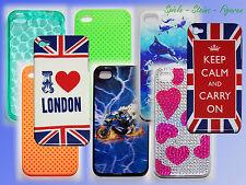 iPhone 4 4S Handy Cover Schutz Hülle Case Schale Halbschale Tasche f. Smartphone