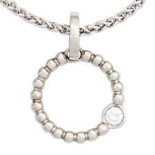 Runde Halsketten und Anhänger aus Platin mit Diamanten