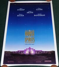THE HOUSE OF THE SPIRITS 1993 ORIGINAL ROLLED 1 SHEET MOVIE POSTER MERYL STREEP