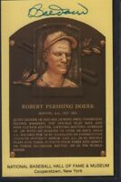 Robert Pershing Bobby Doerr Autographed Signed HOF Postcard w/COA 032218DBT