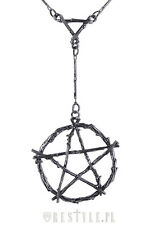 RESTYLE BRANCH PENTAGRAM PUNK GOTH EMO ROCKER HALLOWEEN HORROR CHARM NECKLACE