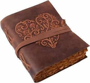 Leather Journal Notebook Dairy with 200 Pages Eco-Friendly and Handmade