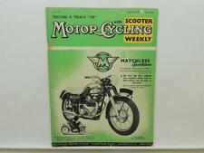 April 1959 Motorcycling Magazine Matchless Sports Twin Trials 250 Triumph L9801