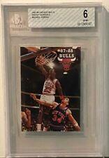 1987-88 Chicago Bulls Pocket Schedule w/Michael Jordan on Cover - BGS 6 - EX-MT