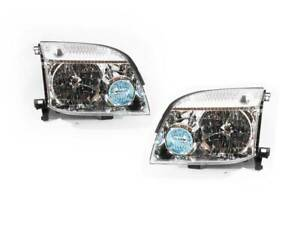 PAIR of Front Clear Headlights to suit Nissan X-Trail 2001-07 T30 Xtrail Wagon