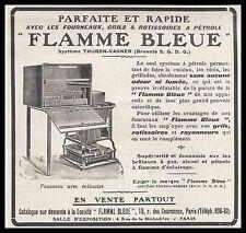 Publicité FLAMME BLEUE Fourneaux Rotissoire  vintage print ad  1908  - 2h