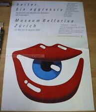 SWISS EXHIBITION XXL POSTER 1982 - CHEERFUL TILL AGGRESSIVE oppenheim tinguely