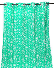 55 x 98 in. Grommet Curtain Paisley Mint with White