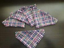 Slide on dog bandana size XS in multi pattern  cotton purples