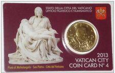 ** Coincard 2013 Vaticaan Vatikan Vatican Vaticano City Coincard No.4 50 cents**