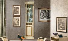 Glasvitrine  Eckvitrine  Beige - Gold Hochglanz Luxus Stilmöbel Design Italien