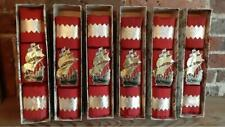 6 x Vintage 1950's Christmas Crackers in Original Single Boxes