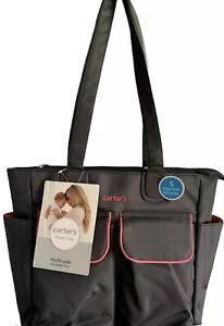 CARTERS Multi-use Tote Gray/Pink Diaper bag