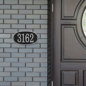 Oval Cast Address Plaque, Ships in 4 days!