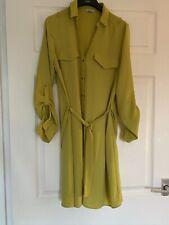 Lime Green River Island Ladies Shirt Dress Long Sleeve Size 10
