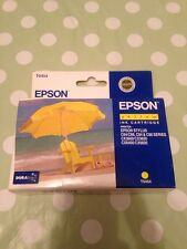ORIGINAL EPSON Yellow Print INK Cartridge Printer STYLUS C64 CX Models Etc New