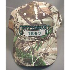GETTYSBURG 1863 CAMO GREEN LETTERS CAP HAT NEW
