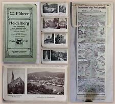 Beckmann Führer Heidelberg und Umgebung um 1930 Karten Bilder Baden-Württemberg