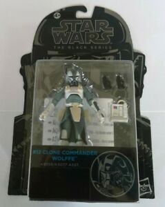 STAR WARS CLONE COMMANDER WOLFFE BLACK SERIES #12 ACTION FIGURE NEW RARE ARMY