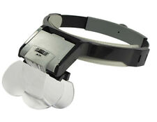 Magnifier Magnifying Glass Headset 6X Head Visor Hobby Coins Beading Crafts
