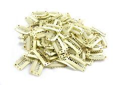 Confezione di 10 BIONDO trama capelli clip 32 mm estensioni wefts