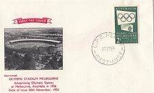Stamps Australia 1955 Olympic Publicity 2/- green on Guthrie FDC unaddressed