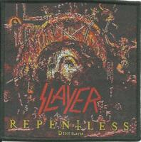 SLAYER repentless 2015 square - WOVEN SEW ON PATCH official merchandise