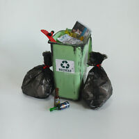 """1/6 Scale Dirty Trash Can Rubbish bags Bottles Garbage Set For 12""""Figure Diorama"""