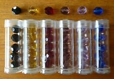 Tube of Gutermann Diamond Cut Oval Glass Beads in Various Colours ~ 8mm or 10mm