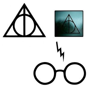 Harry Potter Scar Glasses DEATHLY HALLOWS Vinyl Decal Sticker for Car Window