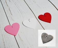 Decorative Wooden Hearts x 24 PCS - 5 cm Valentines Mother Day's Florist Craft