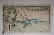 Travelstamps: 1953 Barbados Stamp Scott #242/A23 12c Brown Olive & Aqua used, ng