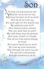 Birthday in Heaven Bereavement Graveside Memorial Waterproof Dad  Card M29