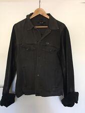 Ksubi Leather Sleeve Denim Jacket Size L
