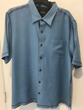 NAT NAST Men 100% Woven Silk size L  BLUE NWT