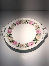 "Royal Worcester ROYAL GARDEN Large Open Handled Cake Plate 12"""