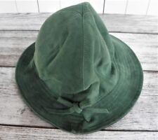 Damen Wildleder Hut  Grün Trachten  Gr. 57 / M