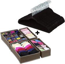 Halter Velvet Hangers 100 Pack Non Slip Suit Hanger + Closet Organizer | Black