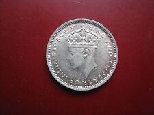 MALESIA Britannica 1943 RE GIORGIO VI ARGENTO dieci 10 CENT in alta qualità