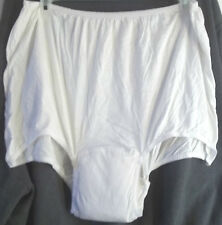 LOT 2 BRIEFS BLADDER CONTROL PADDED PANTIES WHITE PANTY PLUS SIZE 5 / SMALL