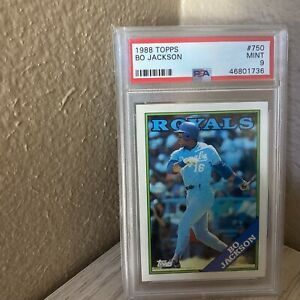 1988 Bo Jackson Topps Royals PSA 9 checkout other auctions