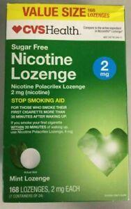 CVS Health Sugar Free Nicotine Lozenge 2 mg Mint Lozenge 168     Exp. 6/2020