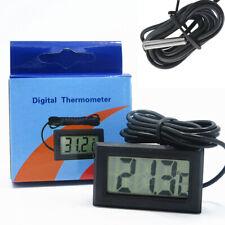 Lcd Digital Aquarium Fish Tank Water Freezer Thermometer Meter Waterproof Probe