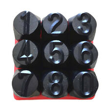 9pcs 4mm Stamps Numbers Set Punch Steel for Metal/ Wood/ Plastic Tool Craft