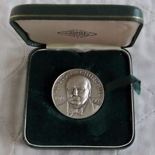 1965 WINSTON CHURCHILL 38mm SILVERED MEDAL -BY L PINCHES
