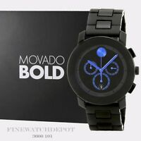 Authentic Stainless Steel Men's Movado Bold Chronograph Watch 3600101