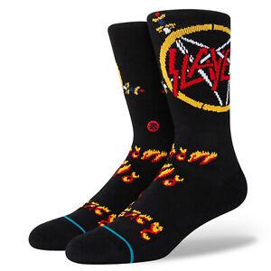 Stance x Slayer No Mercy Crew Thrash Metal Rock Socks Large Men's 9-13